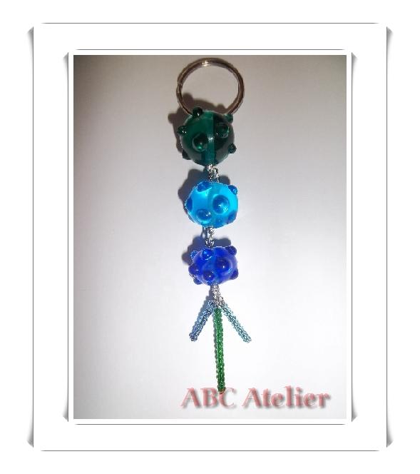 Schlüsselanhänger in blau-grün
