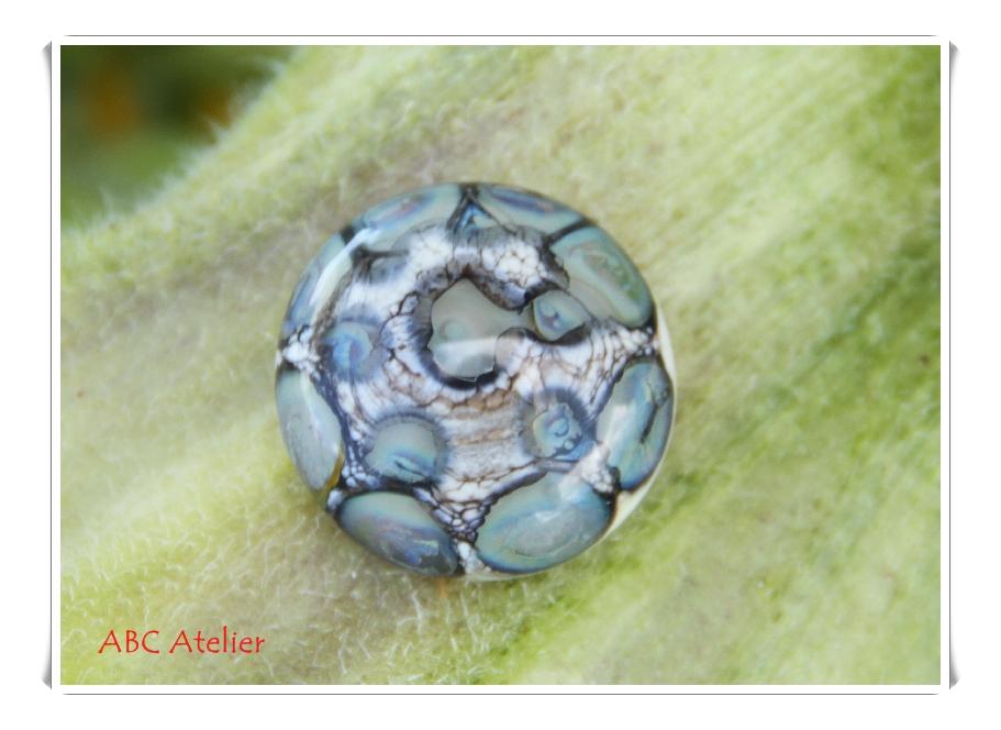 Ringtop elfenbein mit silberbraunen Dots 2