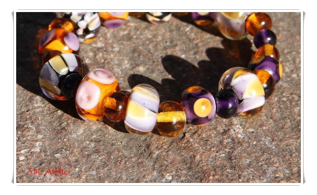 lila - bernstein Armband